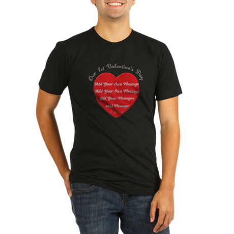 Our 1st Valentine's Day Organic Men's Fitted T-Shi