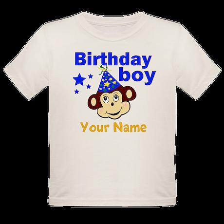Birthday boy monkey custom Organic Toddler T-Shirt