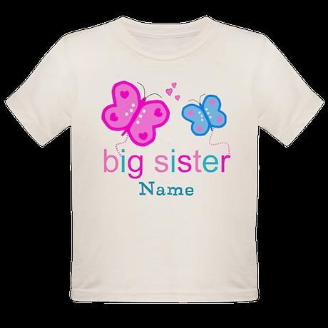 big sister butterfly custom Organic Toddler T-Shir