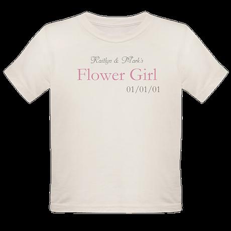 Custom Flower Girl Organic Toddler T-Shirt