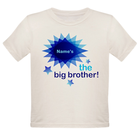Custom Big Brother Organic Toddler T-Shirt