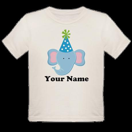 Personalized Birthday Elephant Organic Toddler T-S