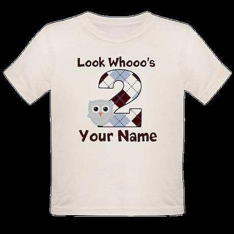 2nd Birthday Owl Organic Toddler T-Shirt