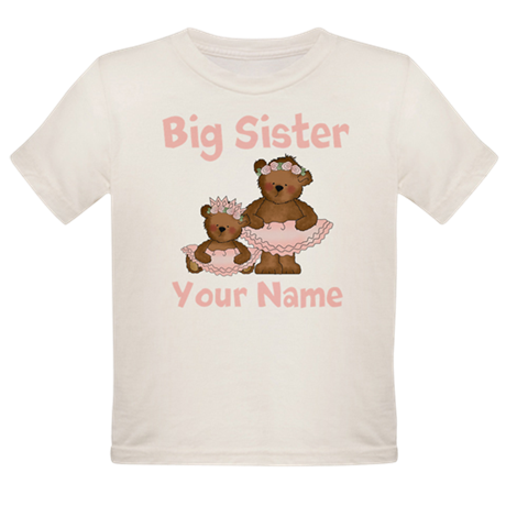 Big Sister Ballet Personalized Organic Toddler T-S