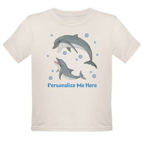 Personalized Dolphin Organic Toddler T-Shirt