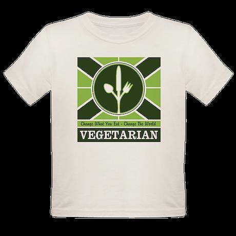 Custom Vegetarian Flag Organic Toddler T-Shirt