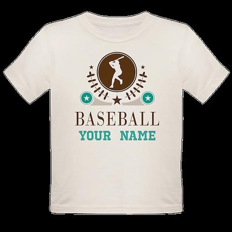 Baseball Vintage Personalized Organic Toddler T-Sh