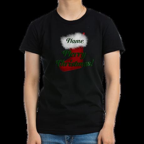 Christmas Stocking Women's Fitted T-Shirt (dark)