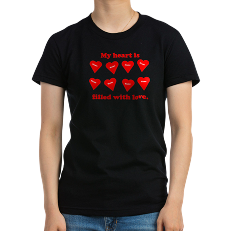 Personalized My Heart Filled Women's Fitted T-Shir