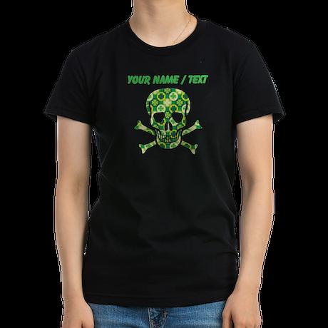 Custom Irish Pirate Skull And Crossbones T-Shirt