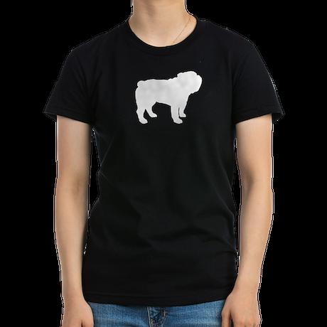 Bulldog Women's Fitted T-Shirt (dark)