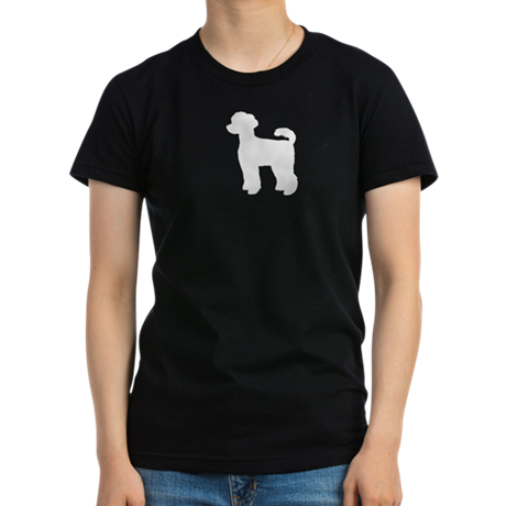 Miniature Poodle Women's Fitted T-Shirt (dark)