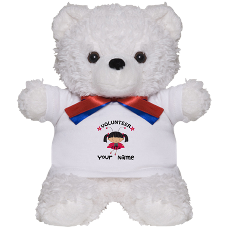 Personalized Volunteer Librarian Teddy Bear