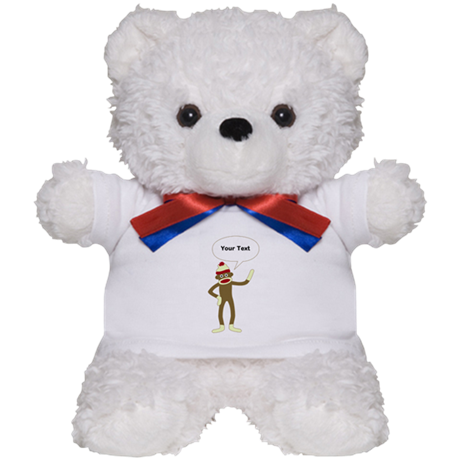 Sock Monkey Comic Speech Bubble Teddy Bear