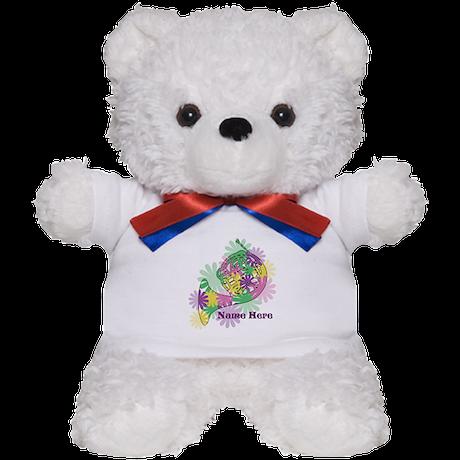 Custom Flower Horn Teddy Bear