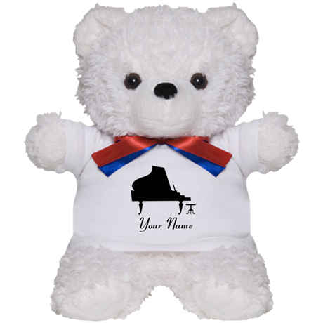 Personalized Piano Music Teddy Bear