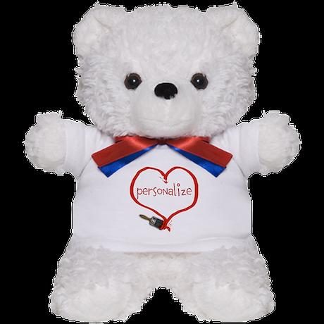 Customizable Painted Heart Teddy Bear