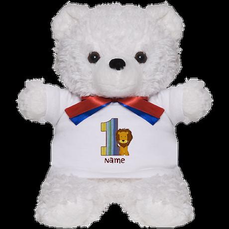 First Birthday Lion Teddy Bear