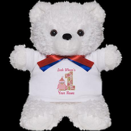 First Birthday Owl Teddy Bear