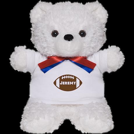 Personalized Football Teddy Bear