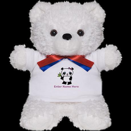 Personalized Panda Teddy Bear