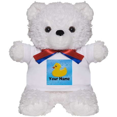 Personalized Rubber Ducky Teddy Bear