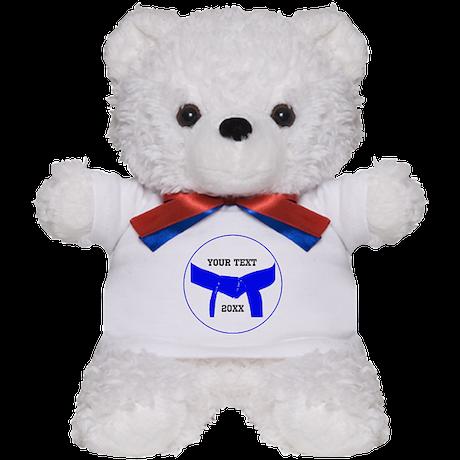 Custom Martial Arts Blue Belt Teddy Bear