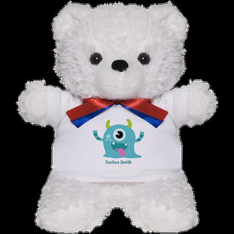 Blue Monster Design Teddy Bear