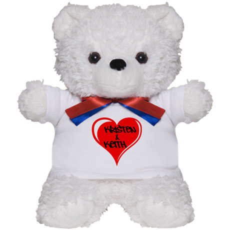 Personalized with names Valentines day heart Teddy