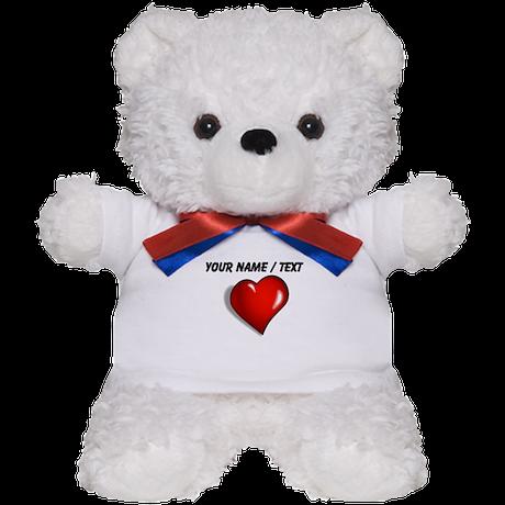 Custom Red Heart Teddy Bear
