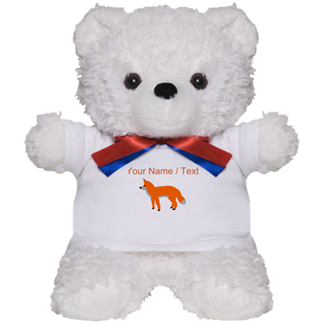 Custom Orange Fox Pup Teddy Bear