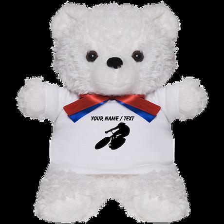 Custom Cycling Silhouette Teddy Bear