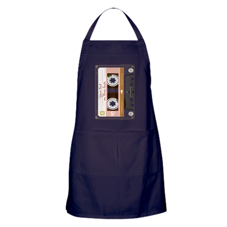 Customizable Cassette Tape - Grey Apron (dark)