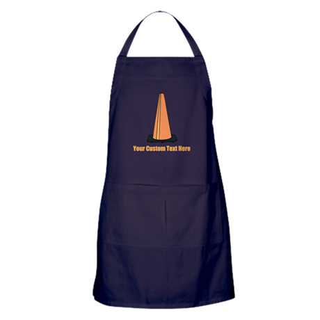 Traffic Cone and Your Text. Apron (dark)