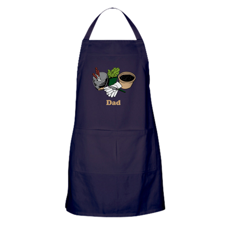 Gardening Dad. Apron (dark)
