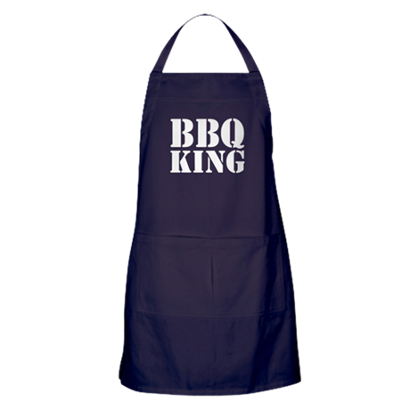 BBQ King Apron For Men (Dark)