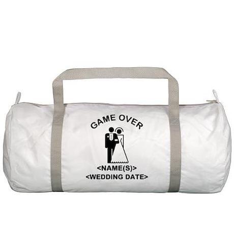 Game Over (Names and Wedding Date) Gym Bag
