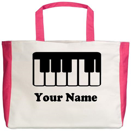 Personalized Piano Keyboard Beach Tote