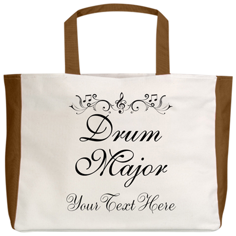 Personalized Drum Major Beach Tote