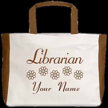 Librarian (daisy) Beach Tote
