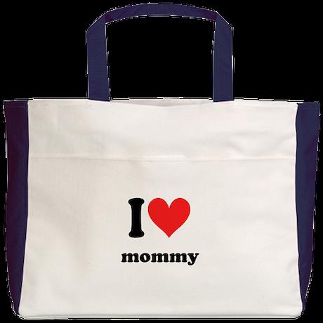 I Heart Mommy Beach Tote
