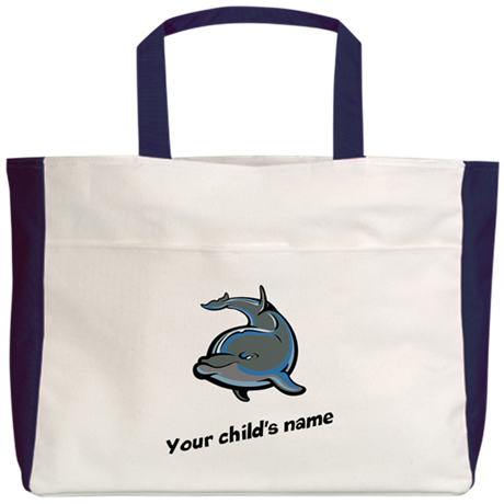 Dolphin Personalized Beach Tote