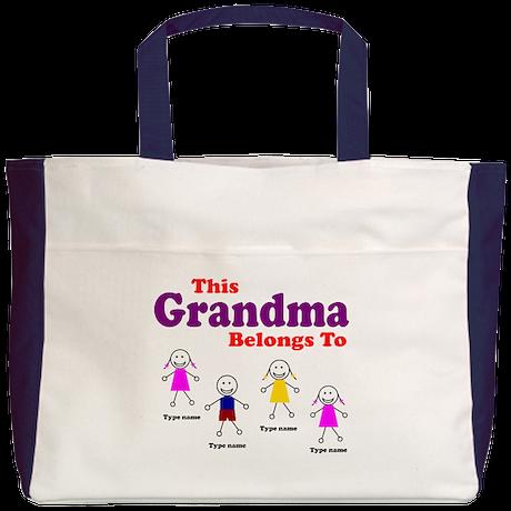 This Grandma Belongs 4 kids Beach Tote