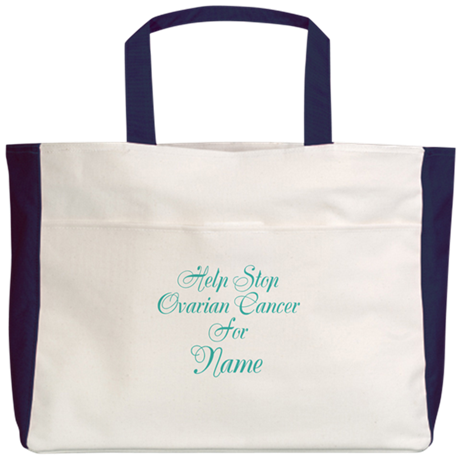 Personalizable Ovarian Cancer Beach Tote