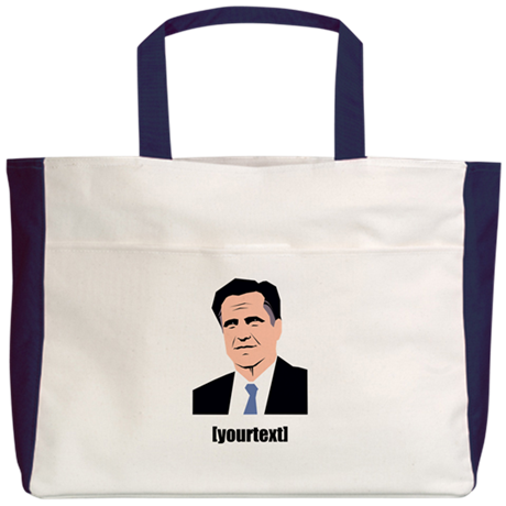 Mitt Romney [with your text] Beach Tote