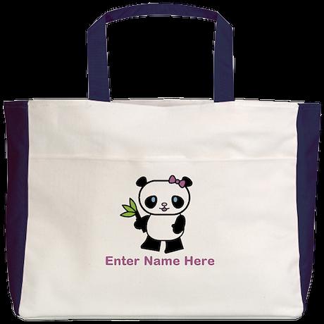 Personalized Panda Beach Tote