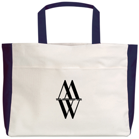 Initial Reflection Monogram Beach Tote