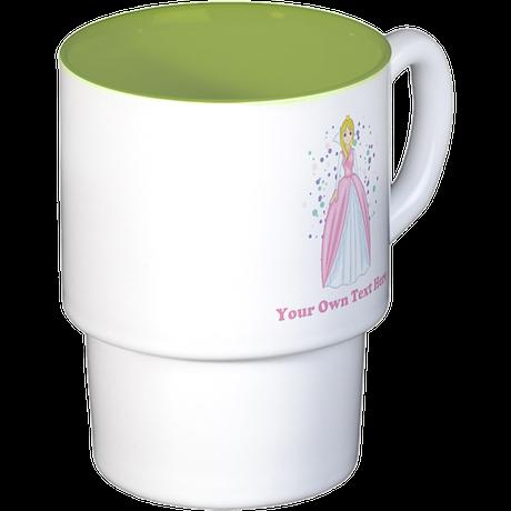 Princess. Custom Text. Stackable Mug