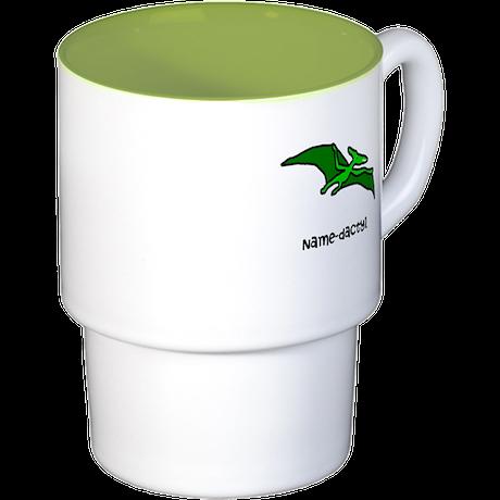 Name your own Pterodactyl! Stackable Mug Set (4 mu