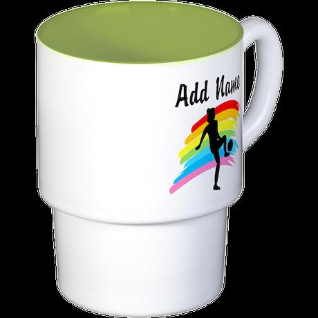 I LOVE SOCCER Stackable Mug